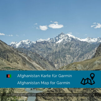 Afghanistan - Download GPS Map for Garmin PC and Mac