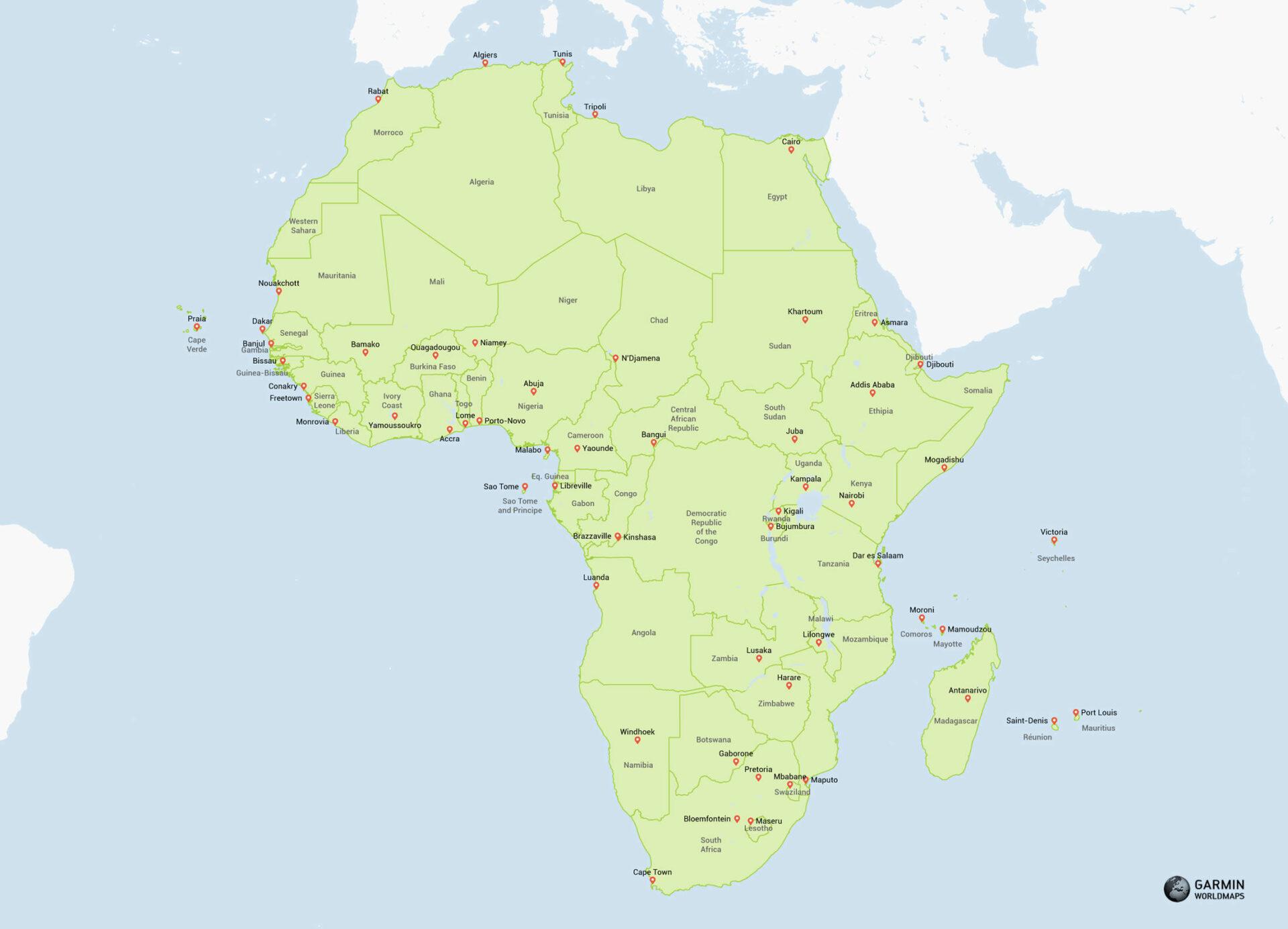 Garmin Maps Download >> Western Africa Map