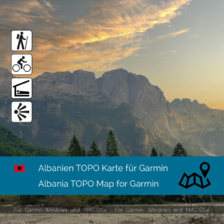 Albania TOPO Garmin map Download