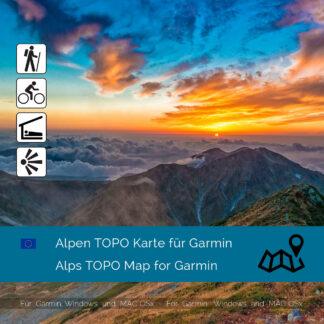 Alps TOPO Garmin map Download