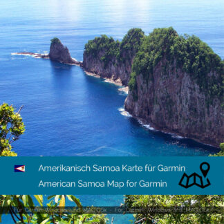 American Samoa - Download GPS Map for Garmin PC & MAC