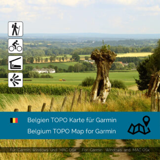 Belgium Download topographic map for Garmim