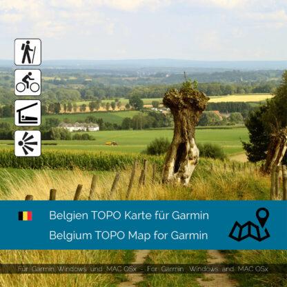 Belgium Download topographic map for Garmim