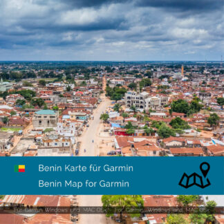 Benin - Download GPS Map for Garmin PC & MAC