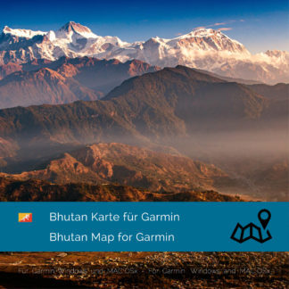 Bhutan - Download GPS Map for Garmin PC & MAC