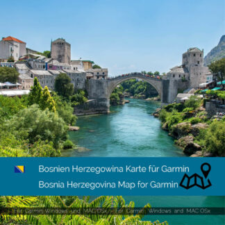 Bosnia Herzegovina - Download GPS Map for Garmin PC & MAC