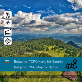 Bulgaria TOPO Garmin map Download