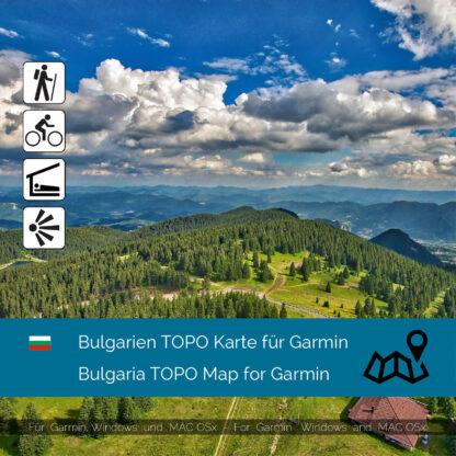 Bulgaria TOPO Garmin map Download