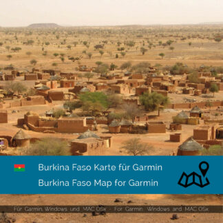 Burkina Faso - Download GPS Map for Garmin PC & MAC