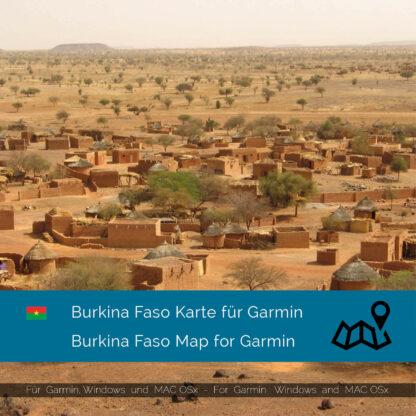 Burkina Faso - Download GPS Map for Garmin PC & MAC