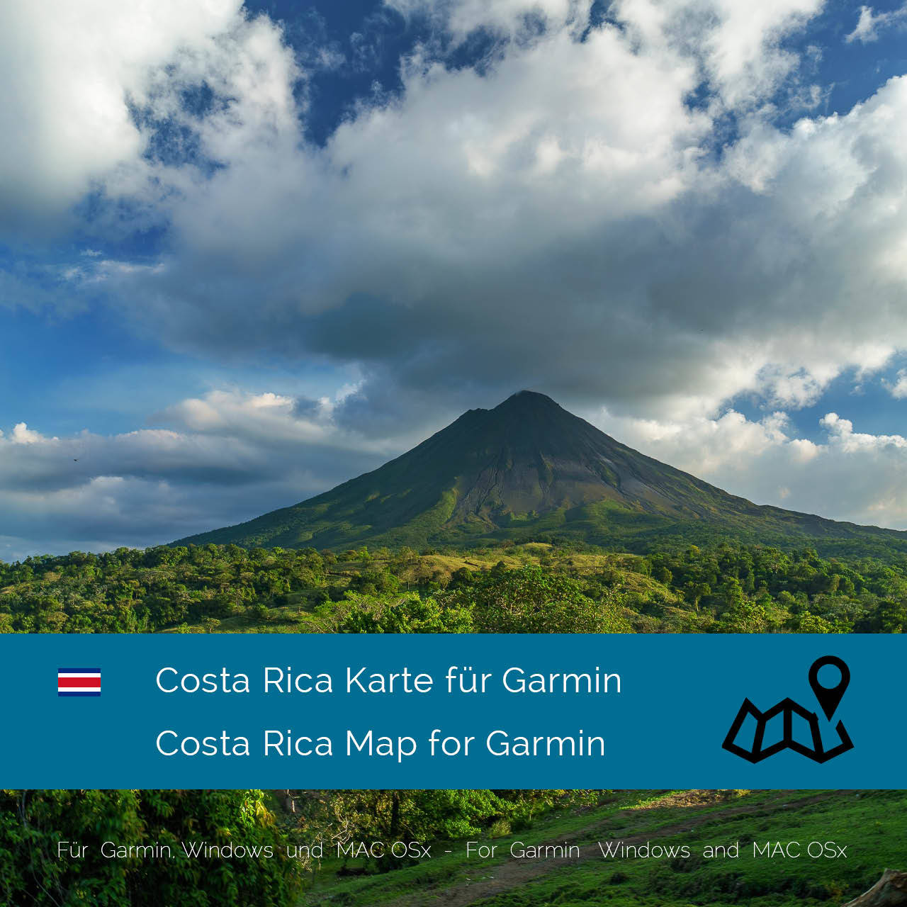 gps with costa rica maps Costa Rica Central America Download Gps Map For Garmin gps with costa rica maps