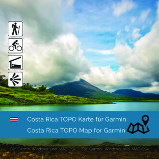 Topographic Map Costa Rica for Garmin navigation devices Download