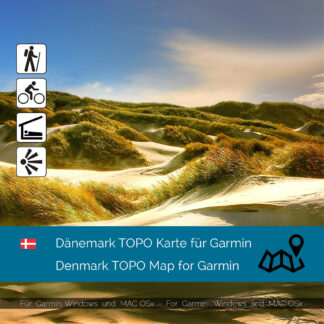 Download topographic map Denmark for Garmin