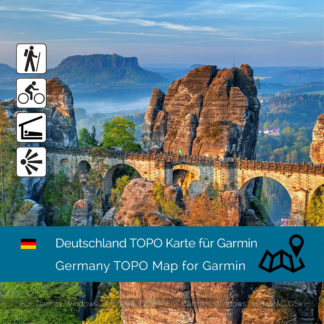 Germany TOPO Garmin map Download