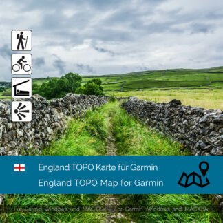 England TOPO Garmin map Download