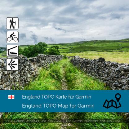 England TOPO Garmin map Download