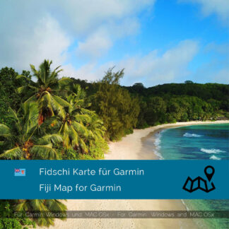 Fiji - Download GPS Map for Garmin PC & MAC