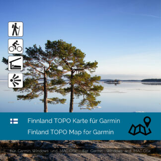 Finland Download GPS Map for Garmin PC and Mac