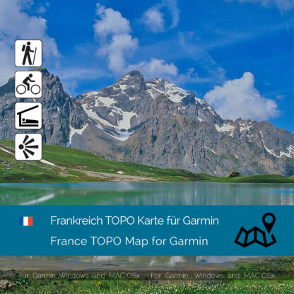 Download topographic map France for Garmin