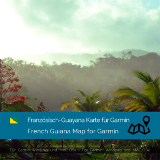 French Guiana - Download GPS Map for Garmin PC & Mac