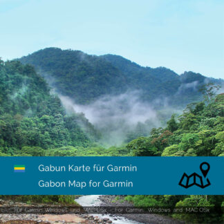 Gabon - Download GPS Map for Garmin PC & MAC