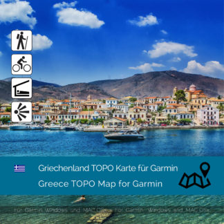 Topographic Map Greece for Garmin Download