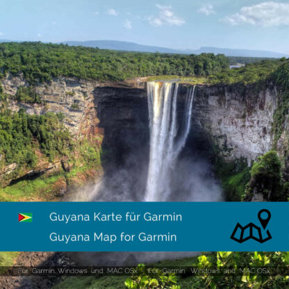 Guyana - Download GPS Map for Garmin PC & Mac