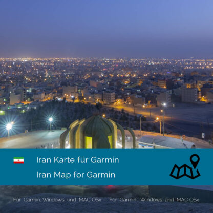 Iran - Download GPS Map for Garmin PC and Mac
