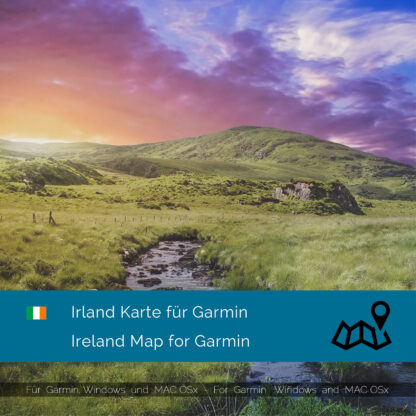 Ireland - Download GPS Map for Garmin PC and Mac