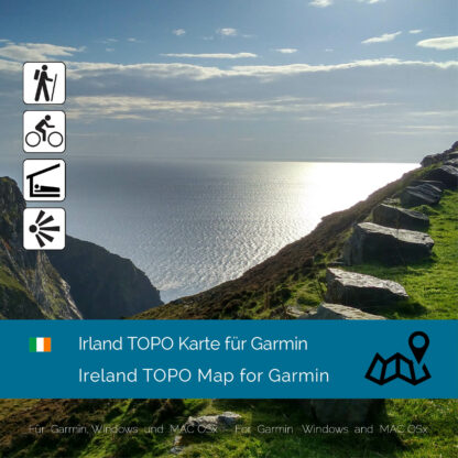 Ireland TOPO Garmin map Download