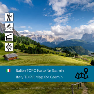 Italy TOPO Garmin map Download