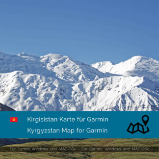 Kyrgyzstan - Download GPS Map for Garmin PC & MAC