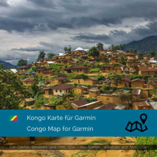 Congo - Download GPS Map for Garmin PC & MAC