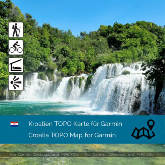 Croatia TOPO Garmin map Download