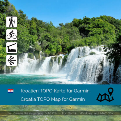 Croatia TOPO Garmin map Download