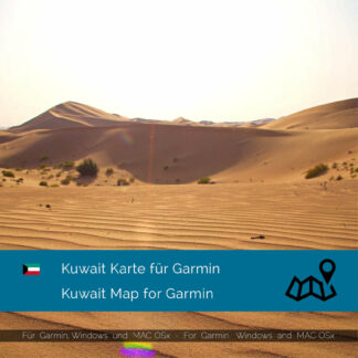 Kuwait - Download GPS Map for Garmin PC & MAC