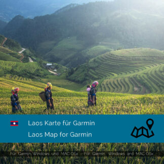 Laos - Download GPS Map for Garmin PC & MAC
