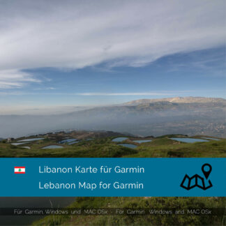 Lebanon - Download GPS Map for Garmin PC & MAC
