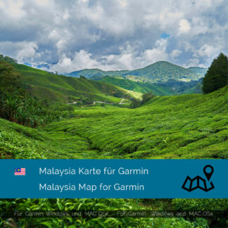 Malaysia - Download GPS Map for Garmin PC & MAC