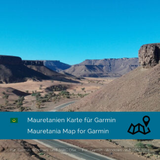 Mauritania - Download GPS Map for Garmin
