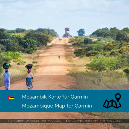 Mozambique - Download GPS Map for Garmin PC & MAC