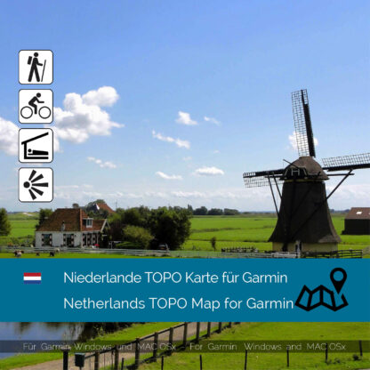 Netherlands TOPO Garmin map Download