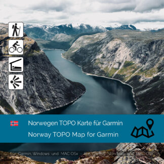 Norway TOPO Garmin map Download