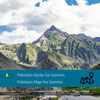 Pakistan - Download GPS Map for Garmin PC and Mac