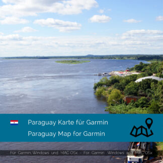 Paraguay - Download GPS Map for Garmin PC & Mac