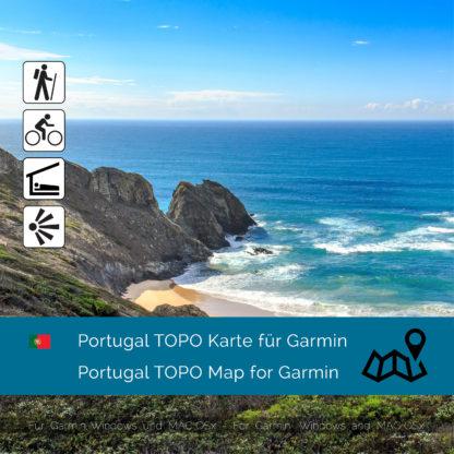 Portugal TOPO Garmin map Download