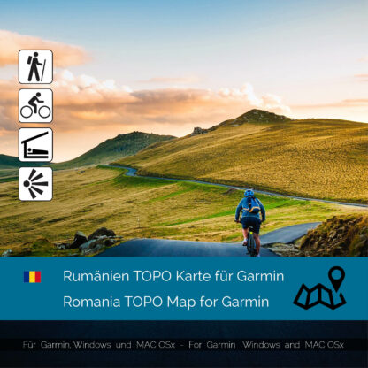 Romania Download GPS Map for Garmin PC and Mac