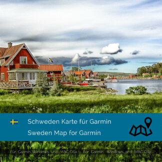 Schweden - Download GPS Map for Garmin PC and Mac