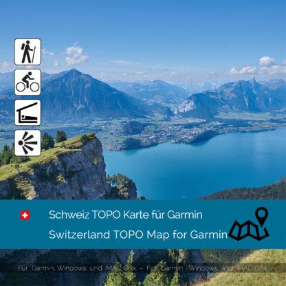 Download topographic map Switzerland Garmin