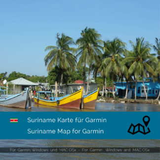 Suriname - Download GPS Map for Garmin PC & Mac